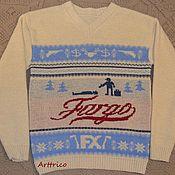 Одежда ручной работы. Ярмарка Мастеров - ручная работа Свитер по мотивам к/ф «Fargo». Handmade.