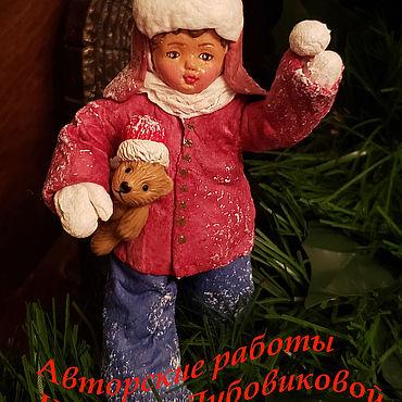 Куклы и игрушки ручной работы. Ярмарка Мастеров - ручная работа Игрушки на елку из ваты. Handmade.