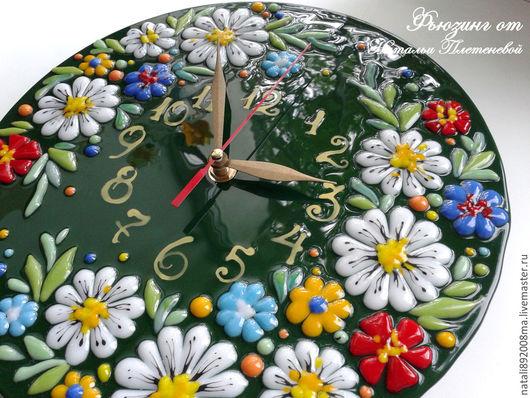 """Часы для дома ручной работы. Ярмарка Мастеров - ручная работа. Купить Часы """"Ромашки для Наташки, ..."""". Handmade. Часы настенные"""