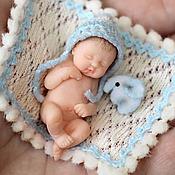 """Куклы и игрушки ручной работы. Ярмарка Мастеров - ручная работа Малыш -""""Крошка на ладошке"""" (4см). Handmade."""