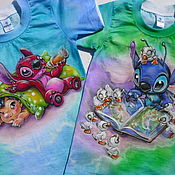 Работы для детей, handmade. Livemaster - original item T-shirt: Children`s t-shirt with hand-painted