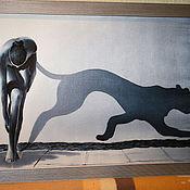Картины и панно ручной работы. Ярмарка Мастеров - ручная работа Тень пантеры. Handmade.