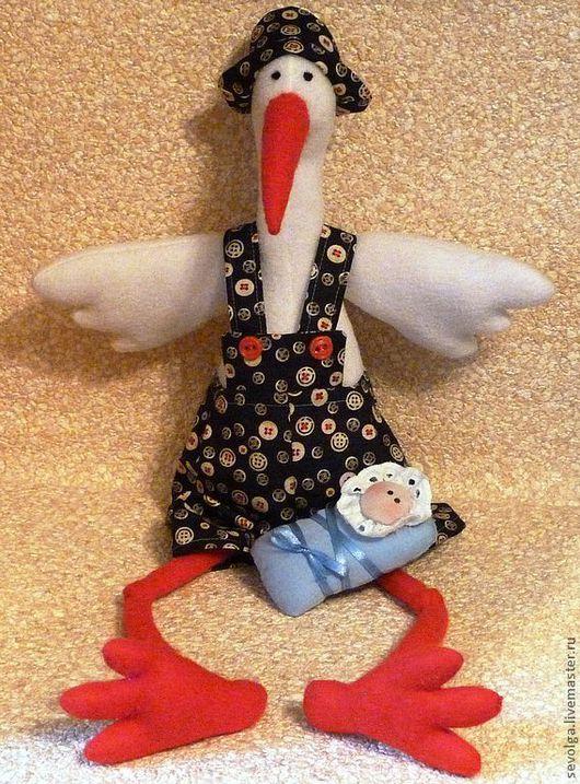 Игрушки животные, ручной работы. Ярмарка Мастеров - ручная работа. Купить Аист - птица счастья. Handmade. Куклы и игрушки