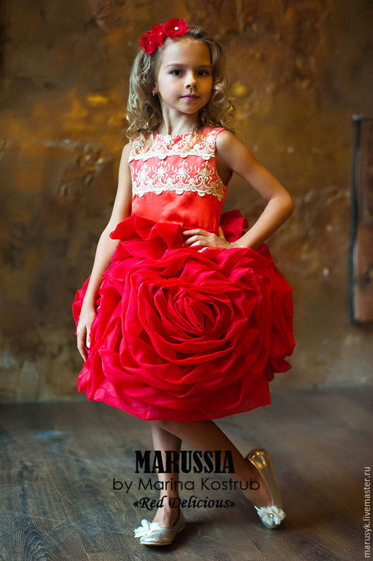 Одежда для девочек, ручной работы. Ярмарка Мастеров - ручная работа. Купить Платье РД-10 Роза любви. Handmade.