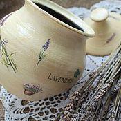 Для дома и интерьера ручной работы. Ярмарка Мастеров - ручная работа горшочек керамика лавандовая пастель. Handmade.