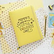 Блокноты ручной работы. Ярмарка Мастеров - ручная работа Блокноты: Блокнот для девочки. Handmade.