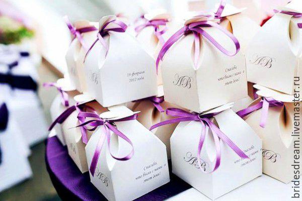 Коробочки для подарков гостям 47