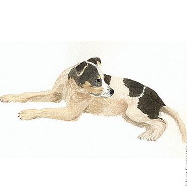 """Картины и панно ручной работы. Ярмарка Мастеров - ручная работа Картина """"Дворовый пёсик"""". Handmade."""