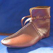 Обувь ручной работы. Ярмарка Мастеров - ручная работа Стилизация историчесчкой обуви Хетебю тип 4. Handmade.
