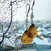 """Украшения ручной работы. Ярмарка Мастеров - ручная работа Серьги """"крылья оранжевой бабочки"""". Handmade."""