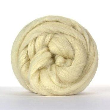 Materials for creativity handmade. Livemaster - original item Copy of Wool Merino tops natural white 16.5 mic (50 g). Handmade.