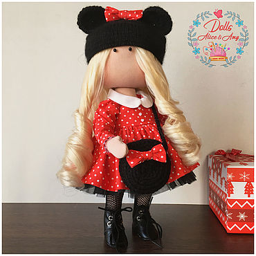 Куклы и игрушки ручной работы. Ярмарка Мастеров - ручная работа Интерьерная куколка мышка MInnie. Handmade.