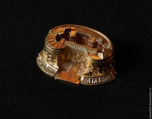 Сувенир, ручная работа, форт Александр, символ Кронштадта, латунь, подарок, для коллекционеров