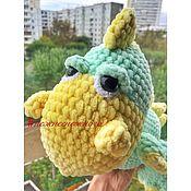 Мягкие игрушки ручной работы. Ярмарка Мастеров - ручная работа Мягкие игрушки: вязаный динозавр. Handmade.