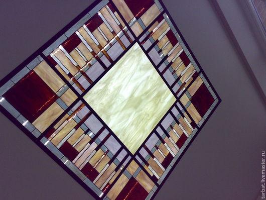 Элементы интерьера ручной работы. Ярмарка Мастеров - ручная работа. Купить Потолок Геометрия. Handmade. Геометрический орнамент, потолок, патина