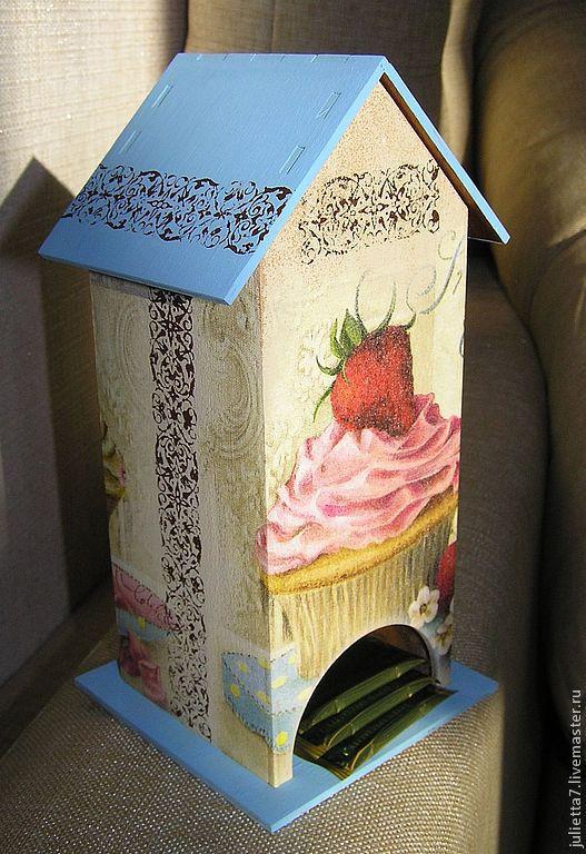 """Кухня ручной работы. Ярмарка Мастеров - ручная работа. Купить Чайный домик """"Вкусный десерт"""". Handmade. Домик для чая"""