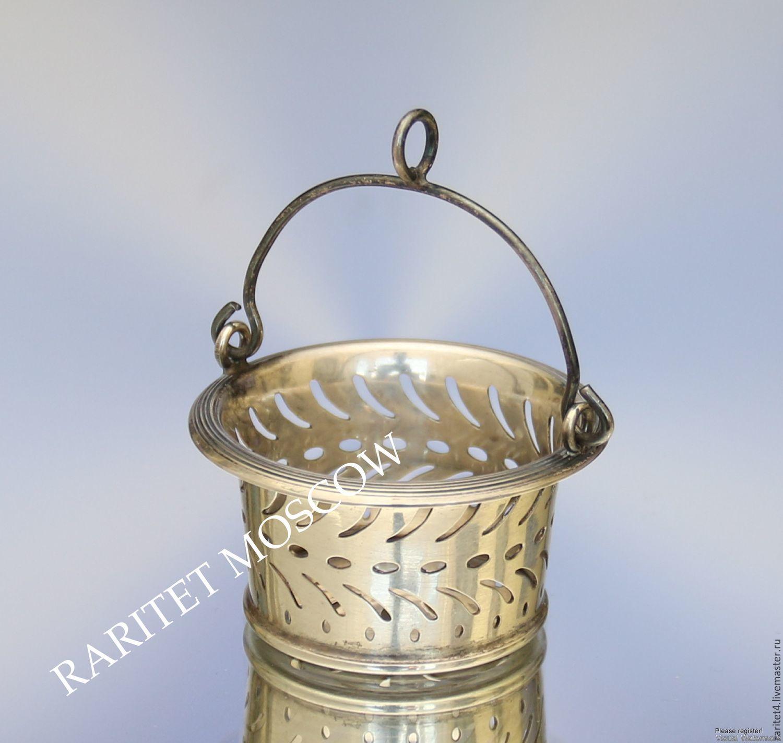 Винтажная посуда. Ярмарка Мастеров - ручная работа. Купить Винтаж: Ситечко для чая серебро 800 пробы 3. Handmade. Серебро