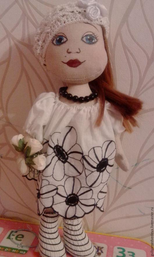 Портретные куклы ручной работы. Ярмарка Мастеров - ручная работа. Купить Текстильная куколка. Handmade. Чёрно-белый, шикарный подарок