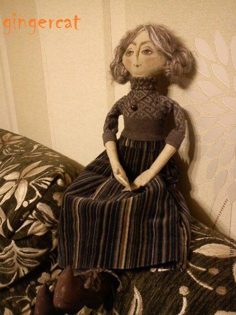 Ароматизированные куклы ручной работы. Ярмарка Мастеров - ручная работа. Купить мисс Браун. Handmade. Текстильная кукла, коричневый, двунитка