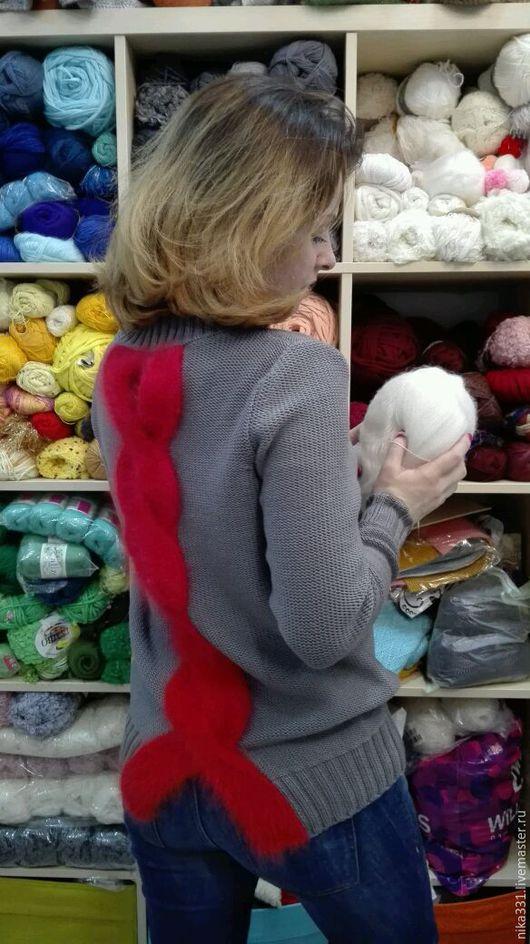 Кофты и свитера ручной работы. Ярмарка Мастеров - ручная работа. Купить Свитер. Handmade. Вязание на заказ, однотонный, ангора