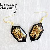 Украшения handmade. Livemaster - original item Earrings Osmanthus black. Handmade.