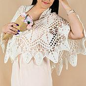 Аксессуары handmade. Livemaster - original item The shawl is crocheted White. Handmade.