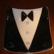 """Посуда ручной работы. Ярмарка Мастеров - ручная работа Тарелка """" Джентльмен с бабочкой"""". Handmade."""