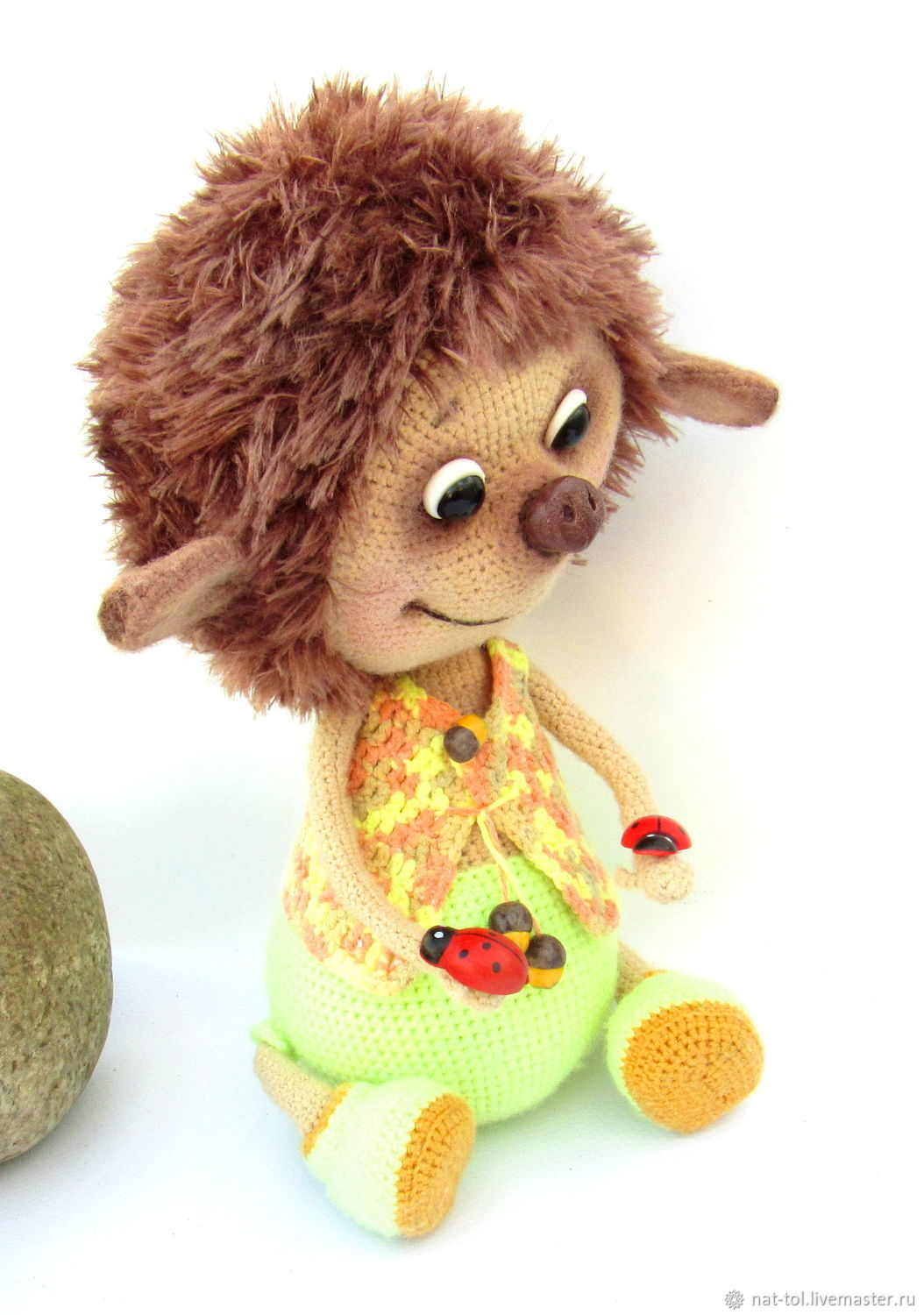 Toy knitted hedgehog 30cm soft game unique product for children, Stuffed Toys, Electrogorsk,  Фото №1