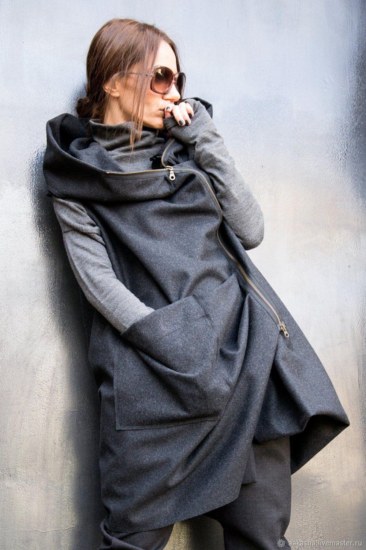 Кашемировое пальто без рукавов Asymmetric, Пальто, София,  Фото №1