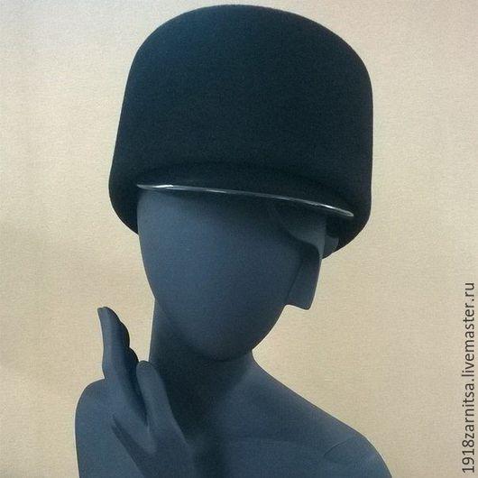 """Шапки ручной работы. Ярмарка Мастеров - ручная работа. Купить Велюровая - фетровая шляпка """"Папаха"""". Handmade. Черный, головные уборы"""