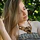 """Колье, бусы ручной работы. Колье """"Сафари"""". Екатерина Головань (Носовец). Интернет-магазин Ярмарка Мастеров. Колье с камнями, агат"""
