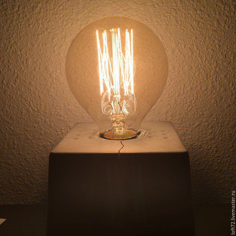 Лампа из бетона купить купить износостойкий лак по бетону