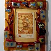 Сувениры и подарки ручной работы. Ярмарка Мастеров - ручная работа Фоторамка Кошки в городе. Handmade.