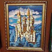 Картины ручной работы. Ярмарка Мастеров - ручная работа Картина из бисера Замок Нойшванштайн. Handmade.