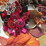 """Украшения ручной работы. Ярмарка Мастеров - ручная работа Брошь """"Поздняя ягода"""" с кварцем и яшмой. Handmade."""