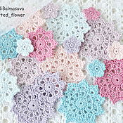 Материалы для творчества handmade. Livemaster - original item A set of knitted elements of decor