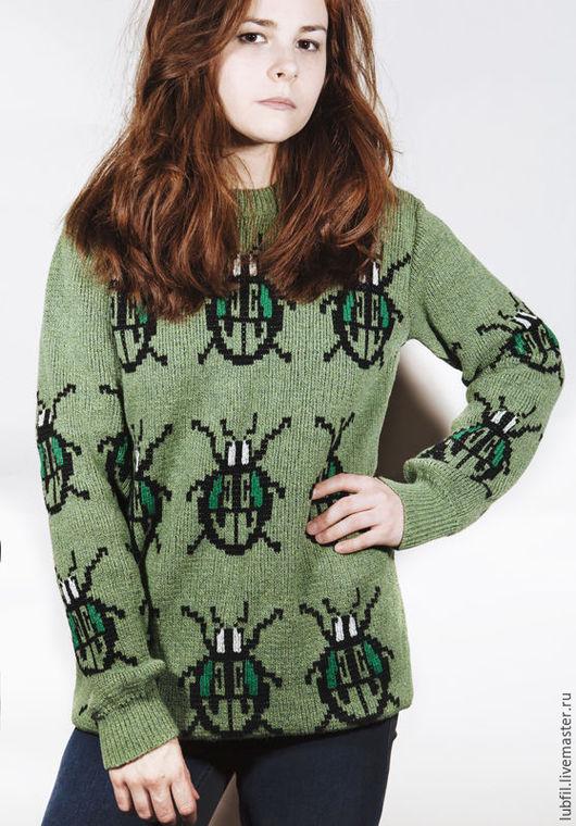 Кофты и свитера ручной работы. Ярмарка Мастеров - ручная работа. Купить Лето. Handmade. Зеленый, джемпер, джемпер женский