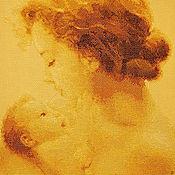 """Картины и панно ручной работы. Ярмарка Мастеров - ручная работа Картина вышитая крестом """"Материнская любовь"""". Handmade."""