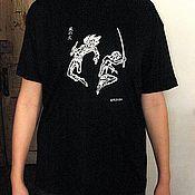 """Одежда ручной работы. Ярмарка Мастеров - ручная работа Футболка """"Кадзе-но-хи"""" (Ветер Огня) с авторским рисунком. Handmade."""