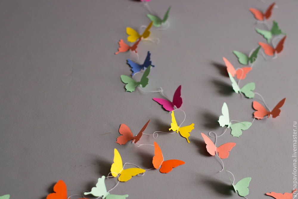 Как сделать гирлянду из бабочек своими руками