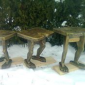 Картины и панно handmade. Livemaster - original item Stools made of wood. Handmade.