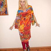 Одежда ручной работы. Ярмарка Мастеров - ручная работа платье с разрезным рукавом- Таитяночки. Handmade.