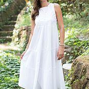 Одежда handmade. Livemaster - original item White dress. dress. summer dress. floor-length dress.. Handmade.