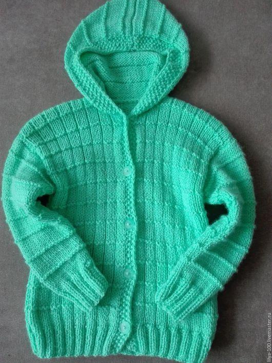 Одежда унисекс ручной работы. Ярмарка Мастеров - ручная работа. Купить кофточка вязанная детская с капюшоном. Handmade. Кофта вязаная