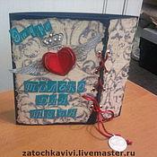 """Открытки ручной работы. Ярмарка Мастеров - ручная работа Открытка """"Коронованное сердце"""" на шнуровке. Handmade."""