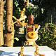 Развивающие игрушки ручной работы. Ярмарка Мастеров - ручная работа. Купить Деревянная игрушка.Робот -трансформер-конструктор. Handmade. Бежевый