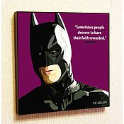 Картины и панно handmade. Livemaster - original item Painting poster Pop Art Batman. Handmade.