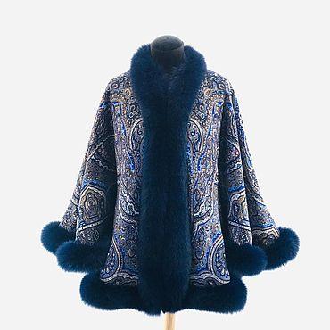 """Одежда ручной работы. Ярмарка Мастеров - ручная работа Куртки: из платков """"Ларец самоцветный"""" с мехом песца. Handmade."""