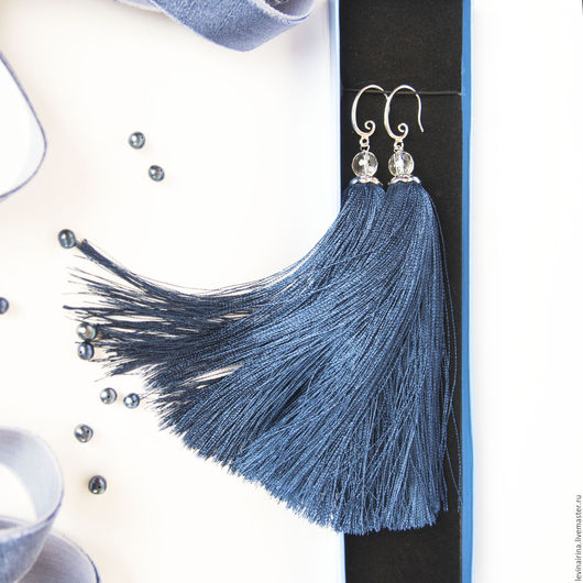 Серьги кисти  `Синяя птица`