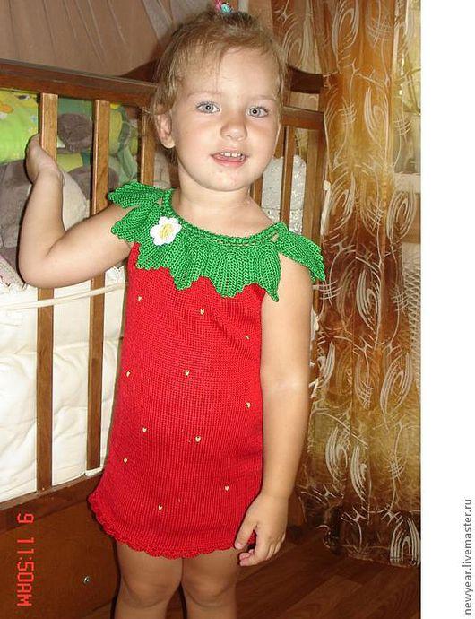 Одежда для девочек, ручной работы. Ярмарка Мастеров - ручная работа. Купить Клубничка. Handmade. 100% хлопок, детское платье